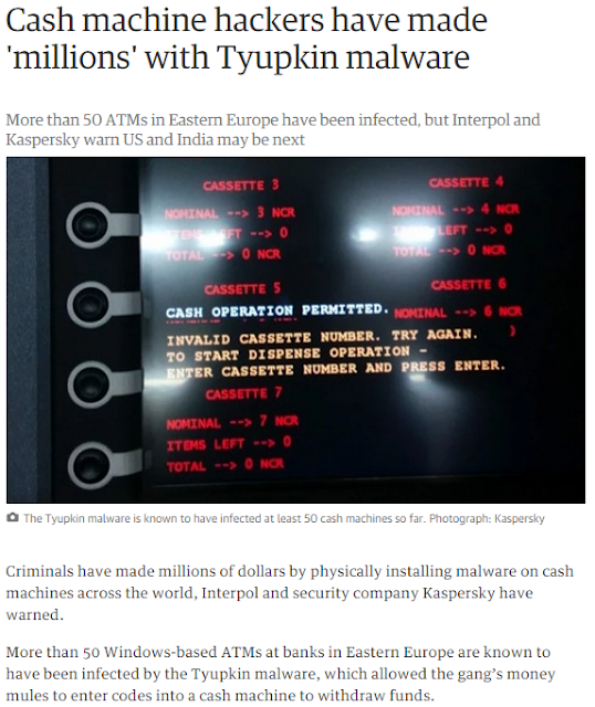 tyupkin malware stolen money cash from atm