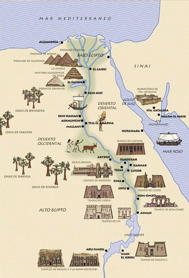 Risultati immagini per ciudades de egipto antiguo