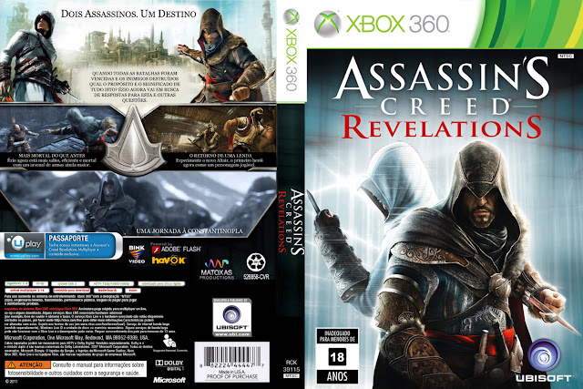 Capa xBox360 Assassin's Creed Revelations