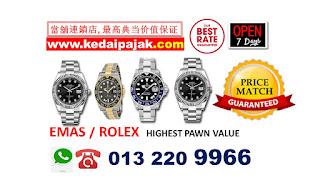 Pajak Rolex GMT Master 2 dengan harga RM65,000 http://www.kedaipajak.com/pajakrolexharga1.htm