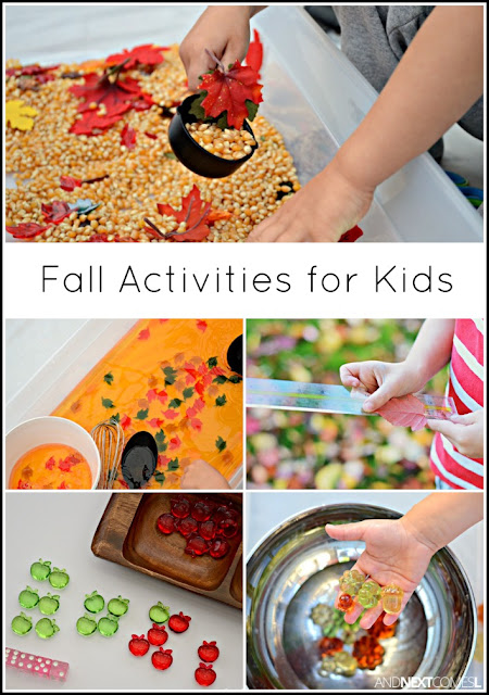 Fall themed activities and crafts for kids from And Next Comes L