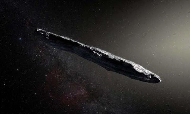 Cigar-shaped Interstellar Object Alien Space-Yacht