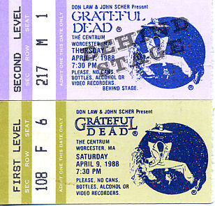 Grateful Dead, April 7 and 9, 1988