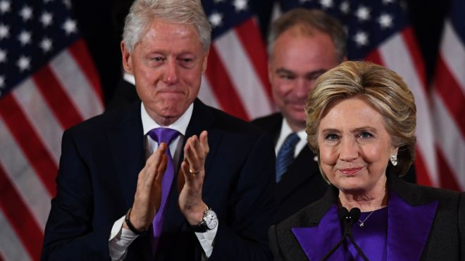 US election result: Clinton says Trump must have chance to lead