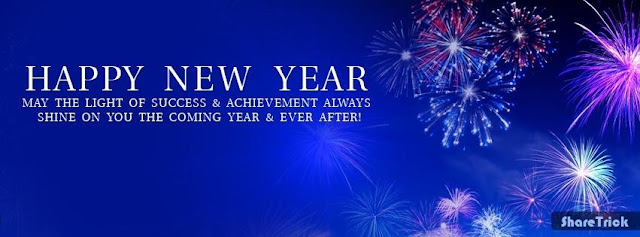 Happy New Year Cover Photo With Wishes for facebook timeline and twiter images