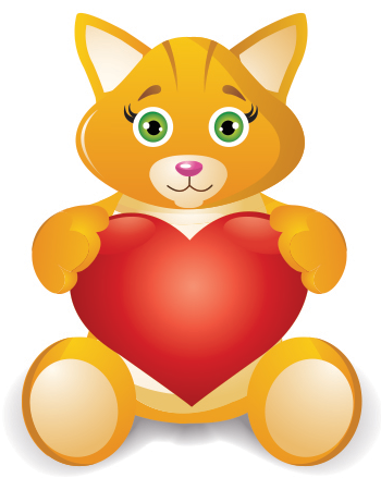 Love kitty ad heart