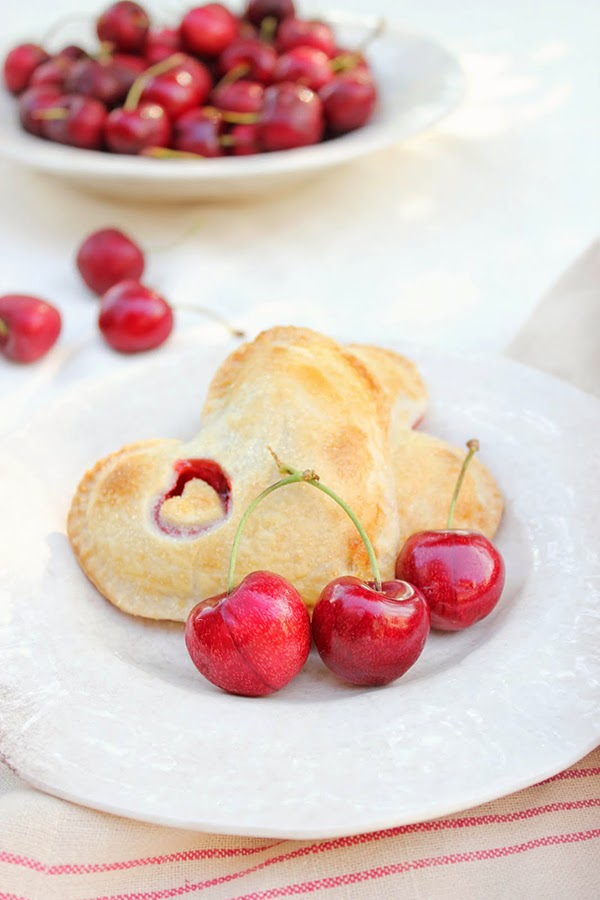Cherry pocket pies inspiring food photography and styling from Tricia at a Rosy Note