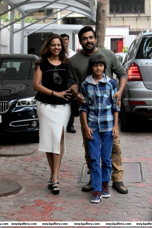 R Madhavan along with his wife and son dropped in to wish Viaan