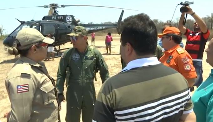 Governo do Estado envia helicóptero para ajudar a combater incêndios na zona rural de Caxias