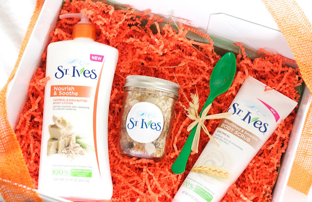 St.Ives body lotion and scrub from their new oatmeal line
