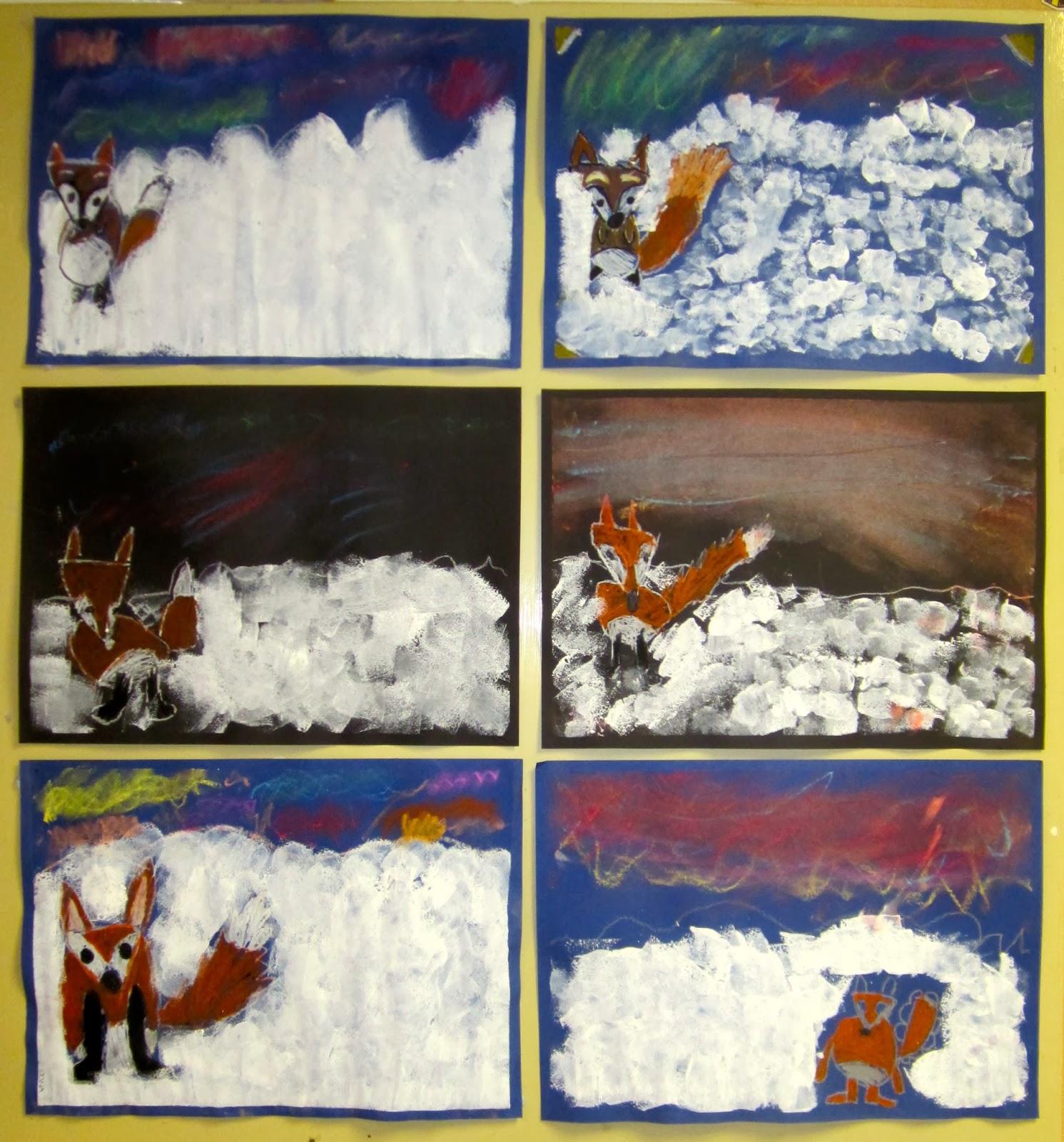 talvinen kuvaamataito työ