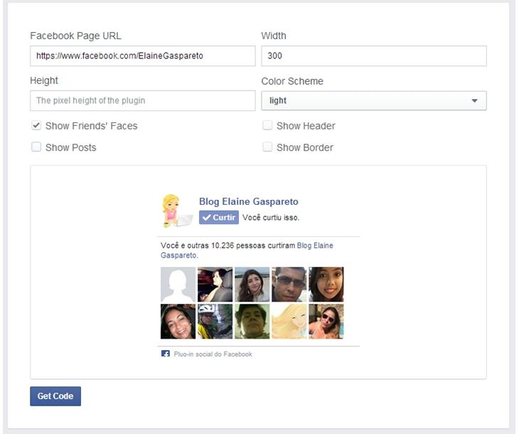 como configurar a caixa de curtir do facebook