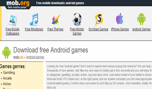Android.Mob.Org android games أندرويد ألعاب