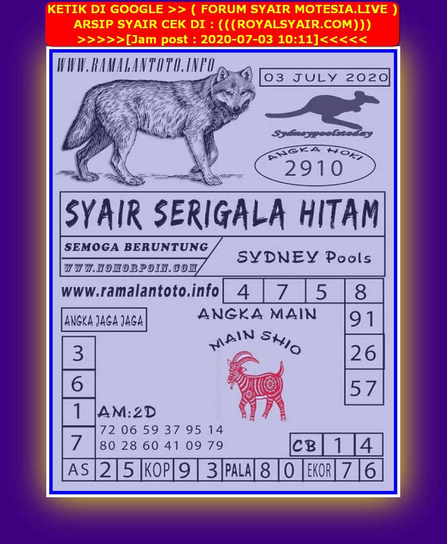Kode syair Sydney Jumat 3 Juli 2020 142