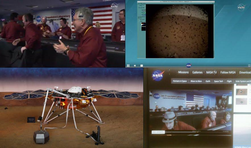 NASA su MARTE: Diretta streaming dalla sonda spaziale dopo l'atterraggio sul pianeta rosso.