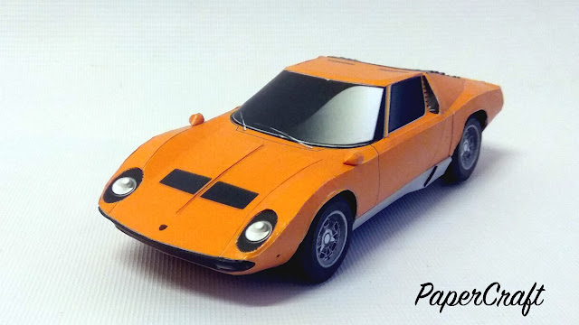 sports car paper model
