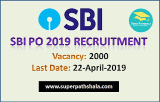 SBI PO 2019 Notification Out for 2000 Posts