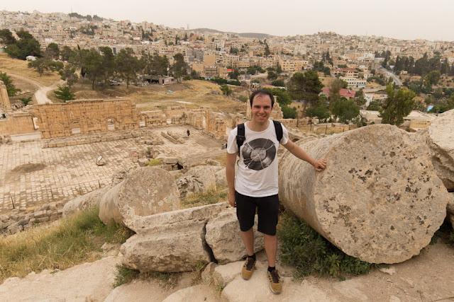 Columna derruída del Templo de Zeus de Jerash