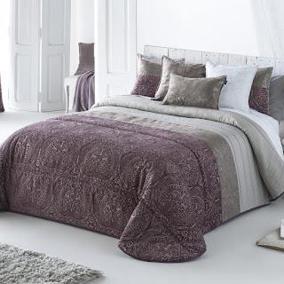 Colcha Bouti modelo Neisse color Malva de Antilo Textil