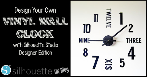 Vinyl Wall Clock designed by Janet Packer for Silhouette UK Blog #vinyl #homedecor #silhouette #cameo