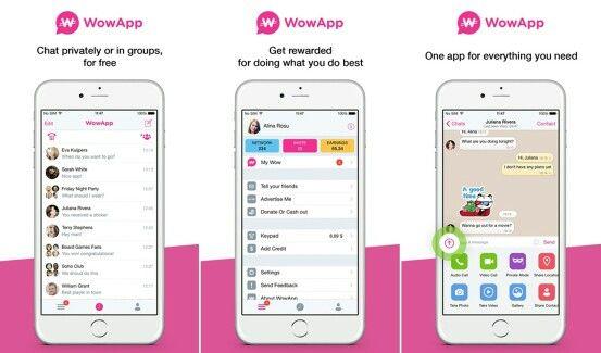 تطبيق wowapp المنافس للواتس أب و ليس للمكالمات فقط بل يدفع لك المال مقابل استخدامة