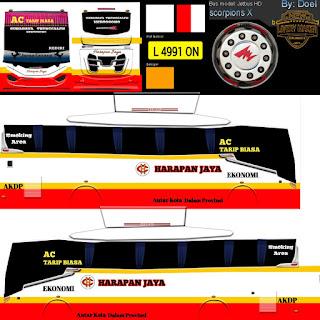 Download Livery Bus Harapan Jaya
