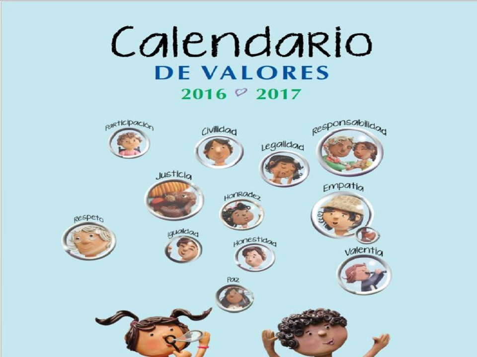 Nuevo Calendario de Valores 2016-2017 - Imprimir PDF | AULA VIRTUAL ...