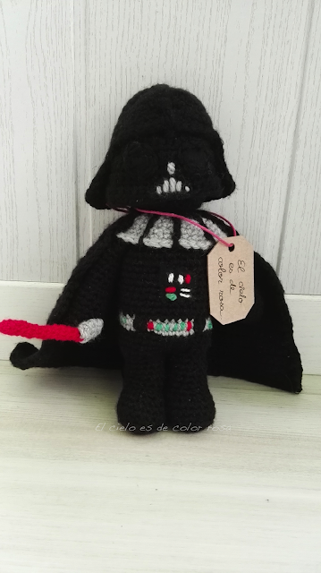 darth vader star wars ganchillo