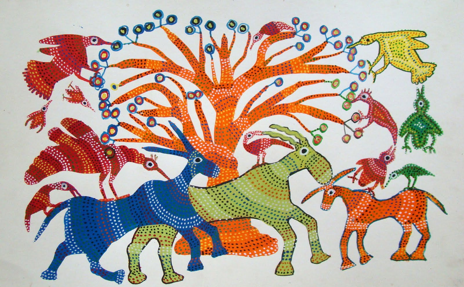 Exploring India Folk And Tribal Art Gond Painting Step By