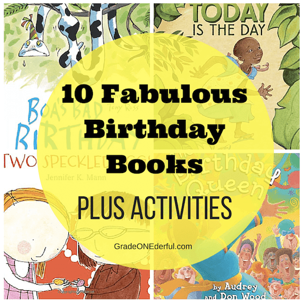 A collection of fabulous birthday books and activities for your first grade classroom. #birthdaybooks #gradeonederful #birthday #booksforkids