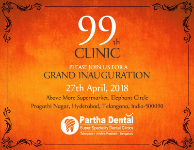 A Grand Inauguration Of 99th Partha Dental Clinic in Pragathi Nagar