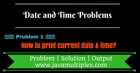 Java program that prints current date and time.