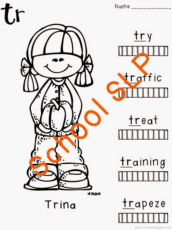 School SLP: Color Me Articulation: r-blends!