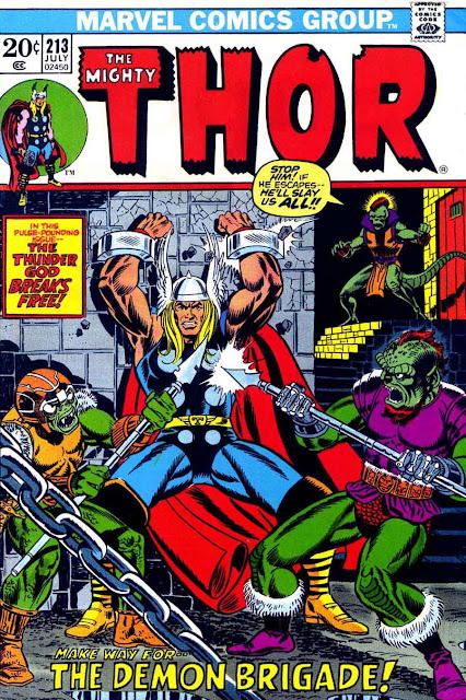 Thor v1 #213 marvel comic book cover art by Jim Starlin