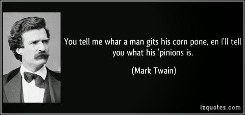 corn pone opinions essay mark twain