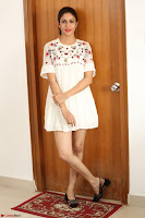 Lavanya Tripathi in Summer Style Spicy Short White Dress at her Interview  Exclusive 175.JPG