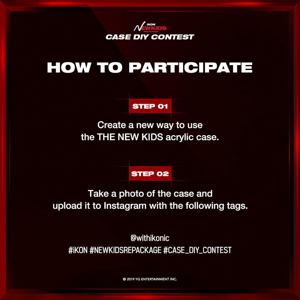 iKON 'NEW KIDS REPACKAGE' CASE DIY CONTEST - iKON Updates