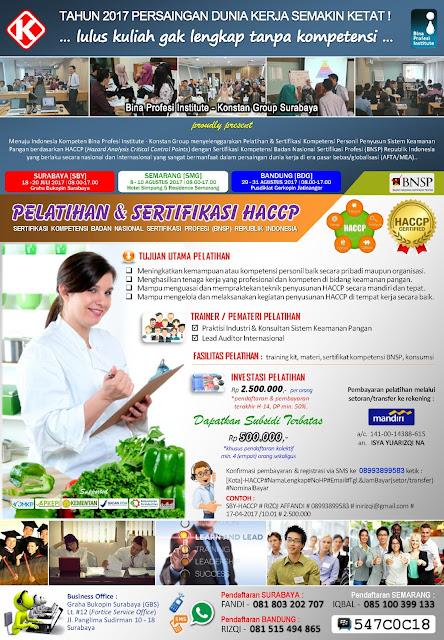 Pelatihan & Sertifikasi HACCP - www.binaprofesiinstitute.com
