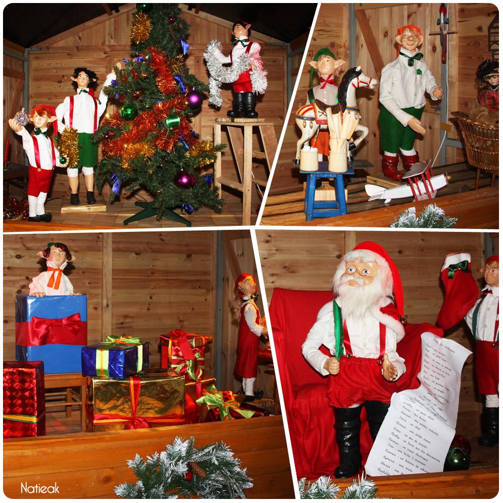 Le village animé du Père Noël au marché de Noël de la Défense