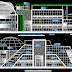 مخطط مشروع مركز ثقافي بتصميم مميز كاملا اوتوكاد dwg