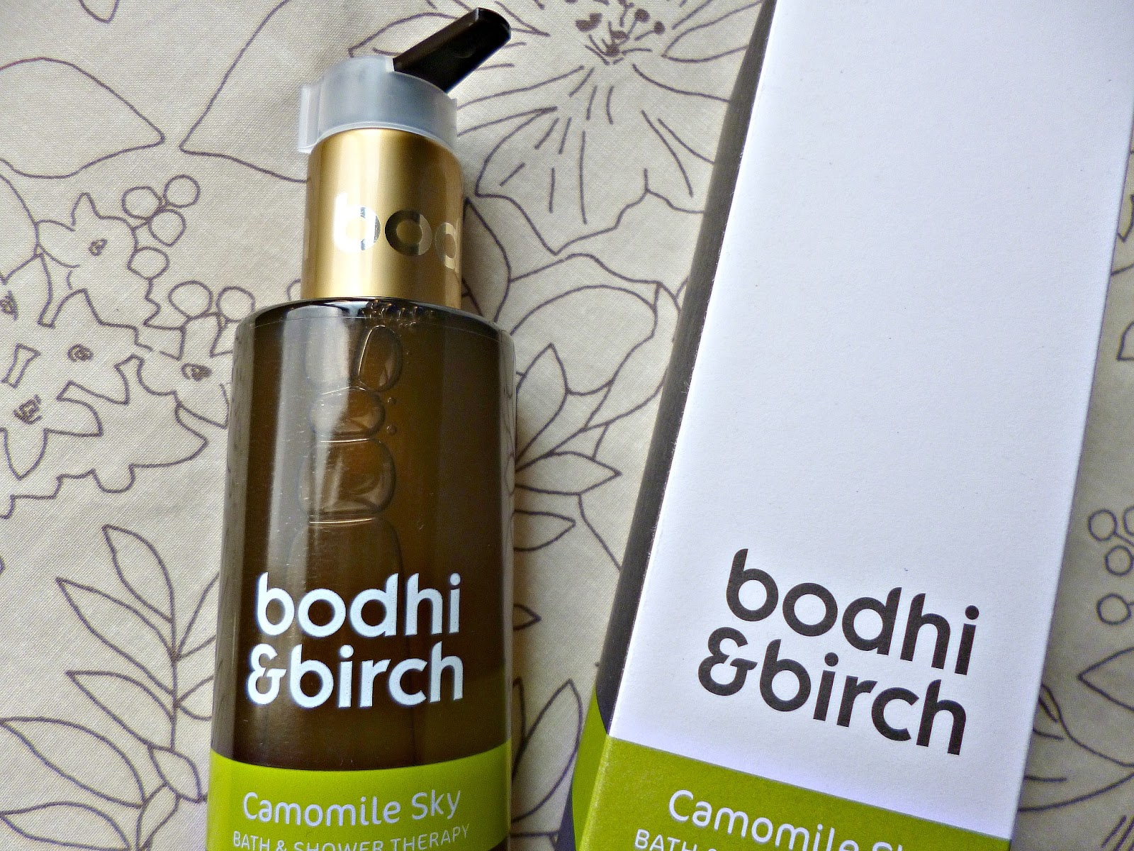 New from Bodhi and Birch – Camomile sky bath and shower therapy