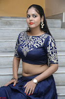 Ruchi Pandey in Blue Embrodiery Choli ghagra at Idem Deyyam music launch ~ Celebrities Exclusive Galleries 038.JPG