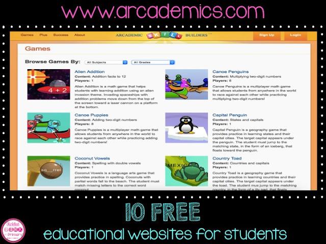 Arcademics Educational Website