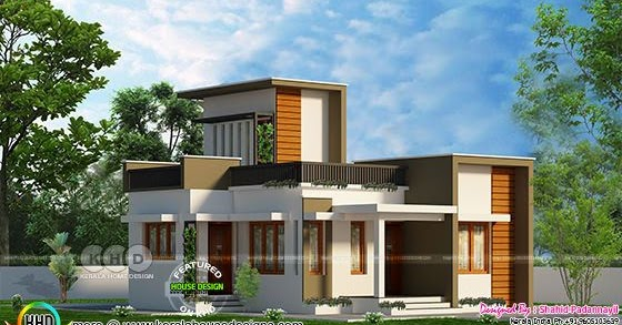 750 Sq Ft Low Cost Flat Roof Home Kerala Home Design And