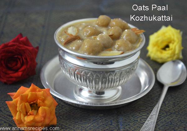 Oats Paal Kozhukattai