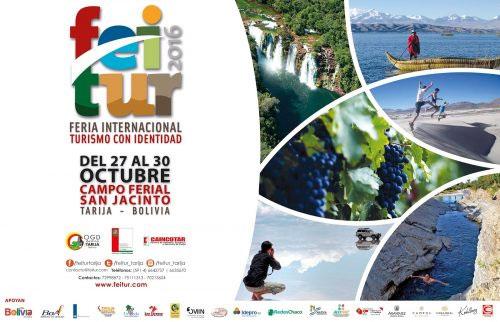 Tarija albergará del 27 al 30 de octubre la primera versión del Festival Internacional de Turismo