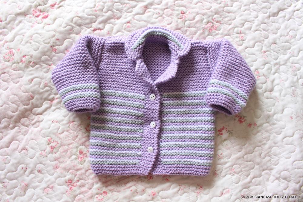 Casaquinho Super Fofo de tricô para bebê. by Bianca Schultz ... 74194047bd4