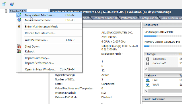 pfSense install on VMWare ESXi as a network firewall/router Part 2  Section 2 – Virtual Machine Setup