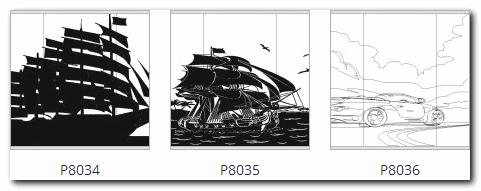 пескоструйный рисунок корабль и машина
