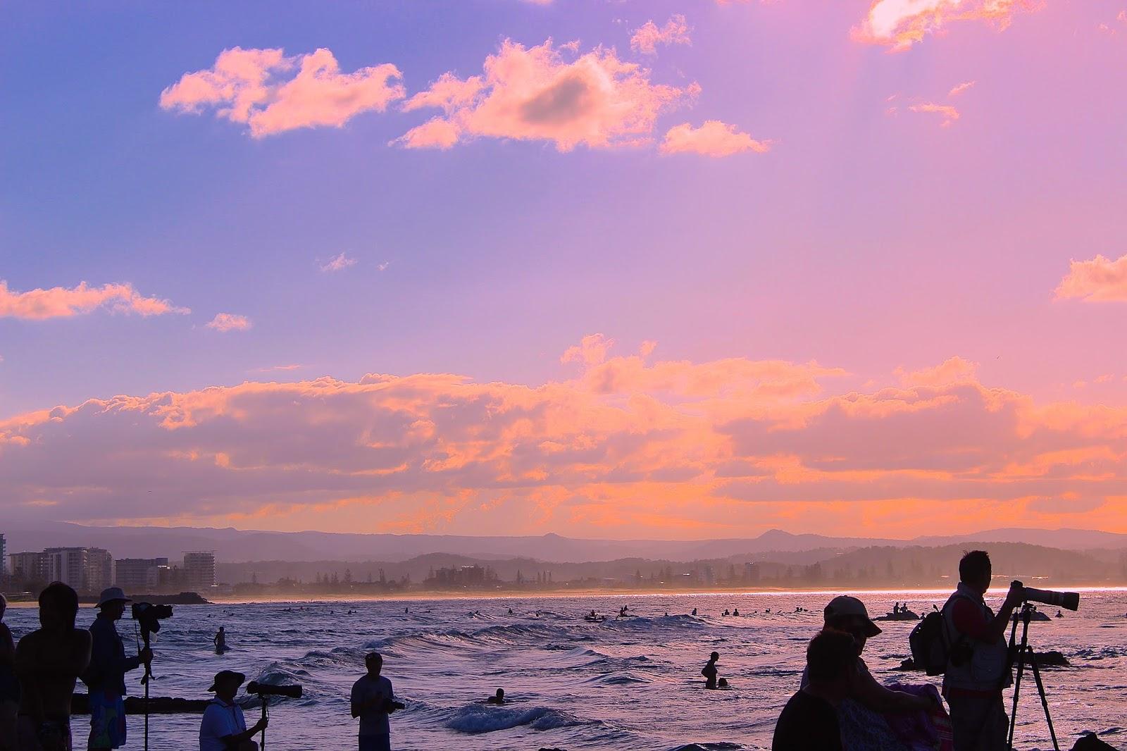 A camera operators at Surf Event